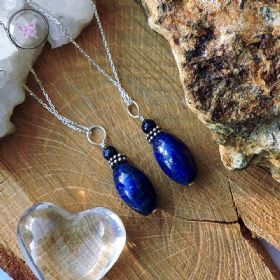 Lapis Lazuli Pendant with Silver Chain